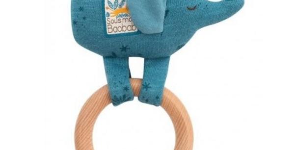 Anneau hochet bois éléphant - Sous mon baobab