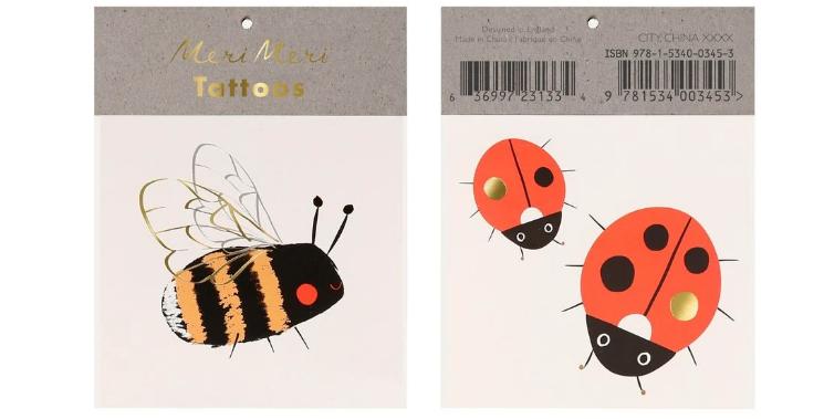 Bee ladybird tattoos