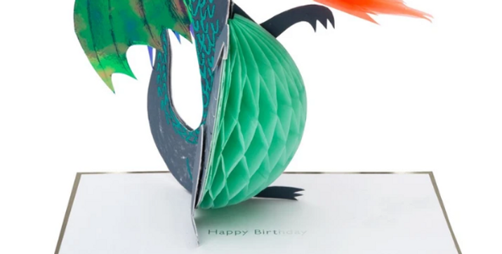 Dragon stand up card