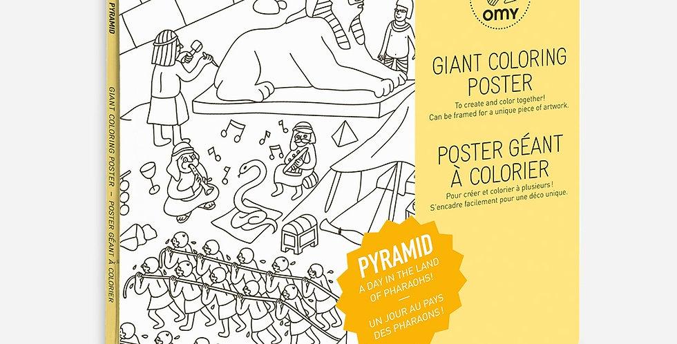 Poster à colorier - Pyramid