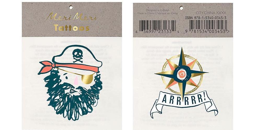 2 Pirate tattoos