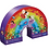 Thumbnail: 36 pc Shaped Puzzle - Over the rainbow