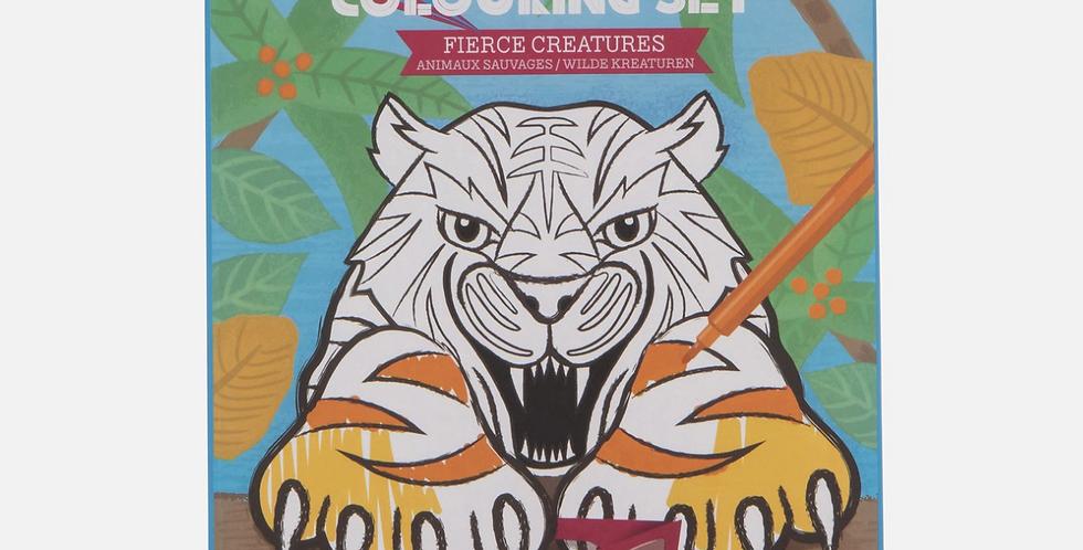 3D Colouring set - Fierce Creatures