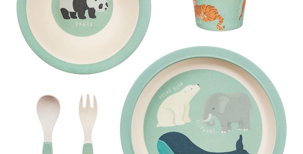 Endangered Animals Bamboo Tableware set