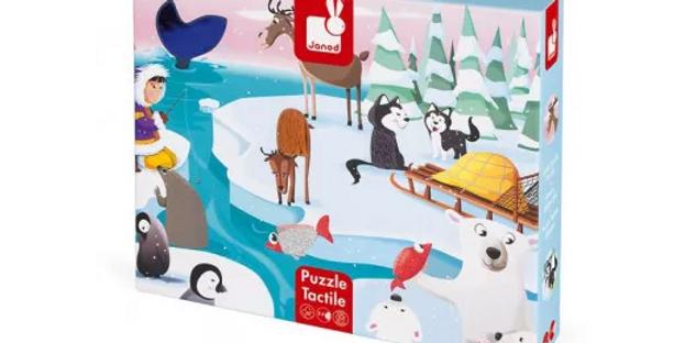 Puzzle Tactile les animaux de la banquise