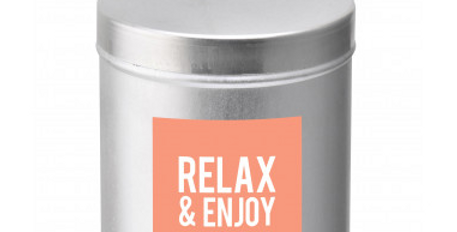 Bougie message - Relax and Enjoy