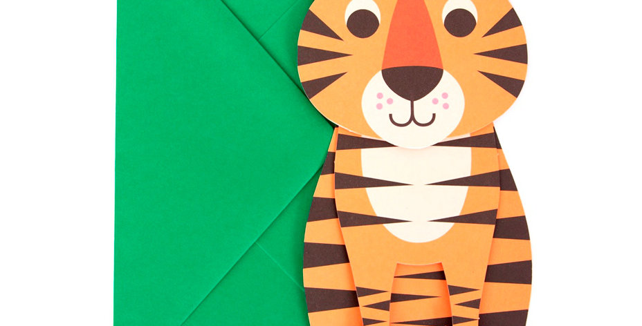 Carte Tigre 3D