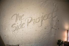 Exhibition title projection