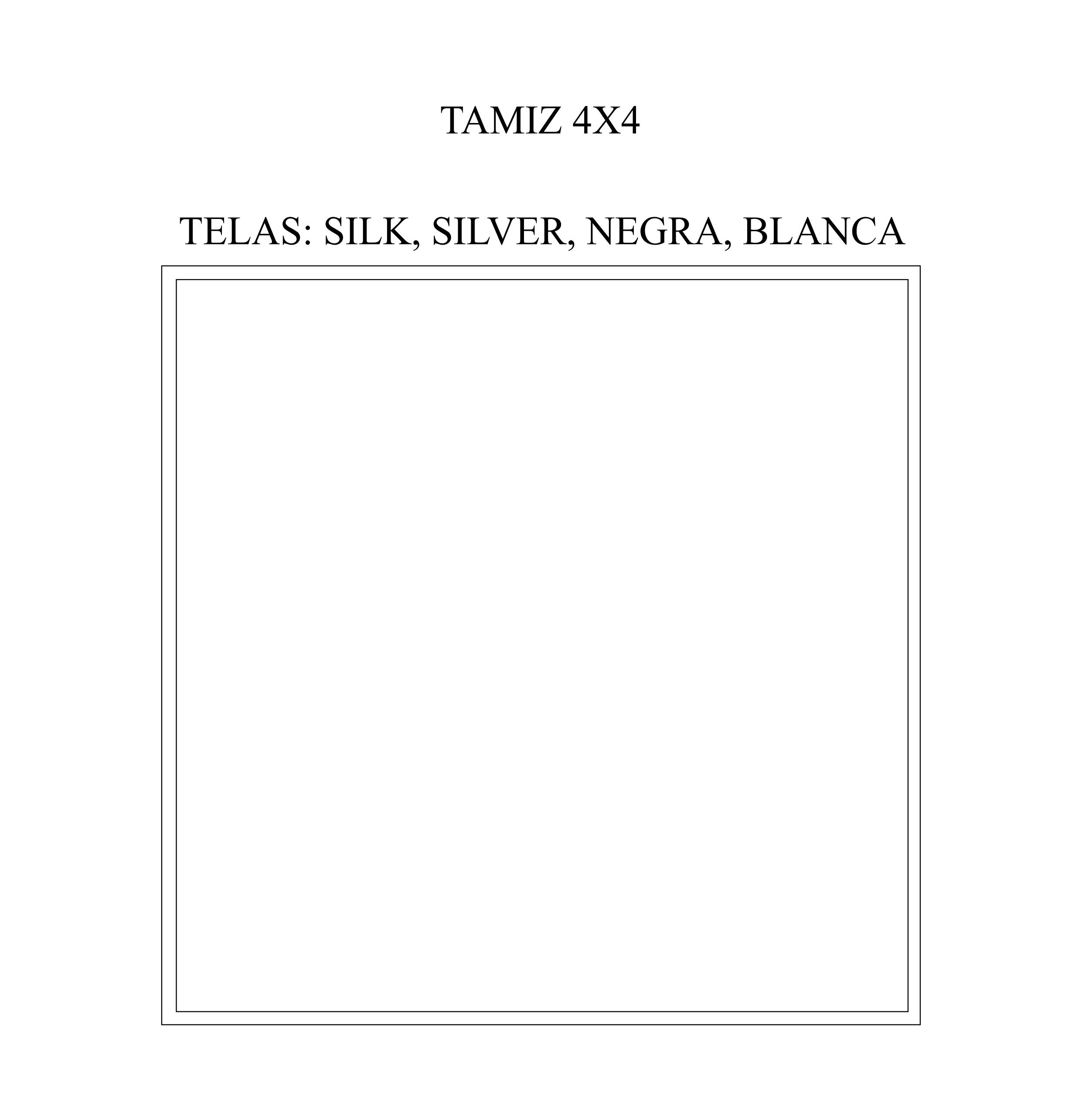 TAMIZ 4x4, 4x2 o 2x2
