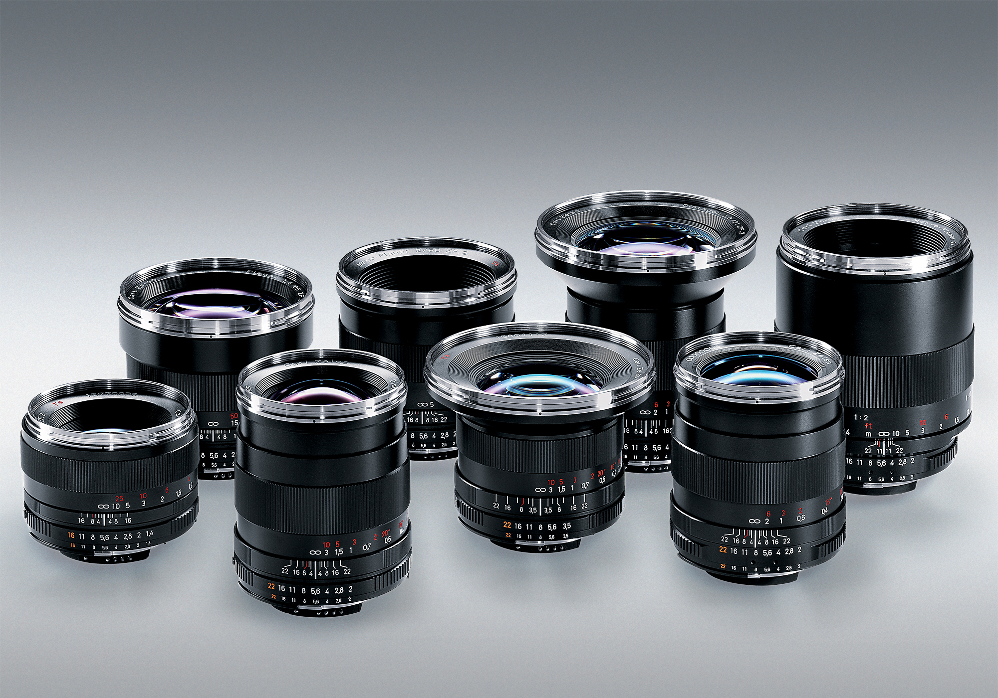 Set Carl Zeiss Cine Lenses ZF