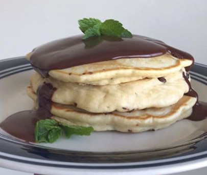 Mint Chocolate Chip Pancakes