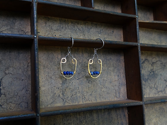 Bronze Lyre Earrings