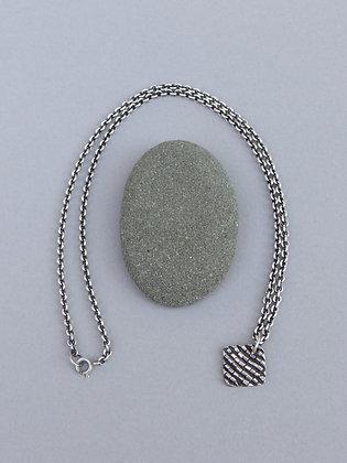 Silver Brick Road Necklace -Diamond