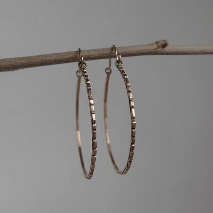Bronze Hoops - Paved Ways #4