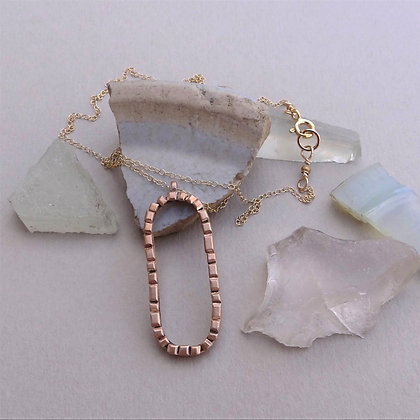 Bronze Necklace -Paved Ways #1