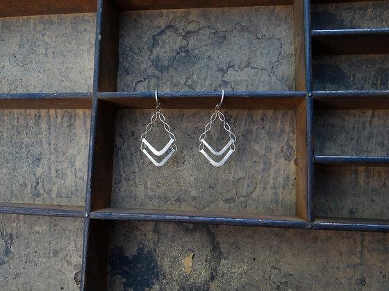 Double V Earrings