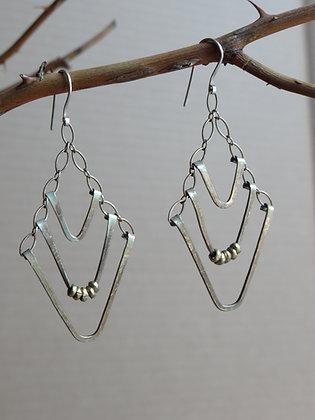 Triple V Earrings