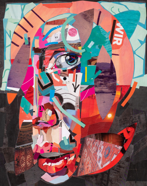 Halo+-+Collage+on+linen+-+Patrick+Bremer