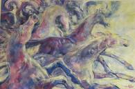 č.5  akryl , olejový paste, na plátně 12