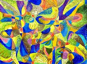 Marie Sibaiová strukturální malba,akryl