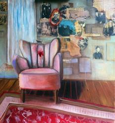 Murder-IV-akrylová-malba-a-koláž-na-plát