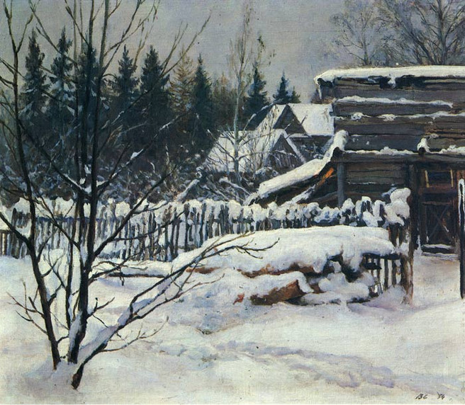 Oil_Painting_Reproduction_of_Serov_Snowy