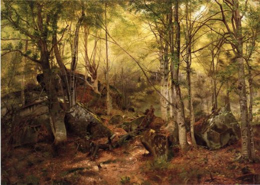 john-george-brown-deerhunter-in-the-wood
