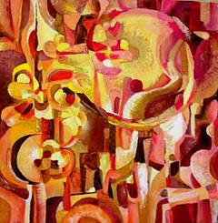 Marie Sibaiová ,olej na plátně 80x80 ,,p
