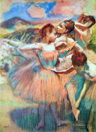 Dancers in the landscape by Degas.jpg