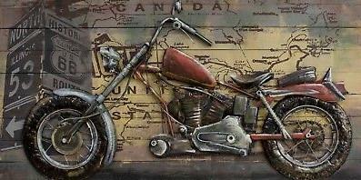 3D-Wall-Art-MotorcycleOil-Painting-on-Al