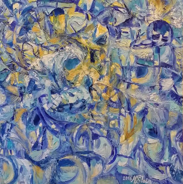 Marie Sibaiová  olej na plátně  40x40 ,,