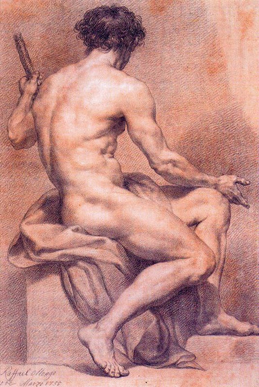 Anton Raphael Mengs - Nude portrait of s