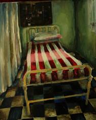 Hospital-I-akrylová-malba-na-plátně-24x3