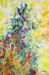 č.7  akryl olejový pastel na plátně 80x1