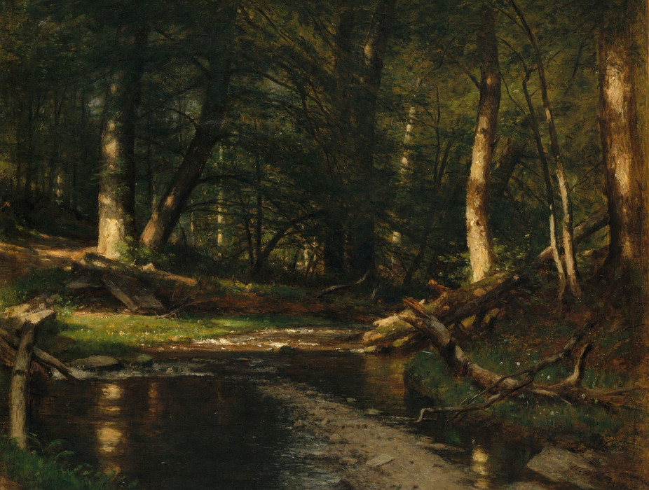 The-Brook-in-the-Woods-Thomas-Worthingto