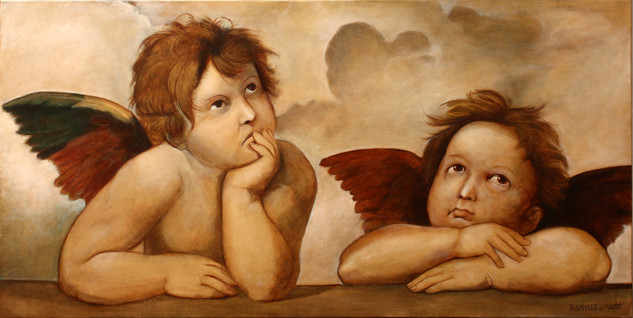 Fine-Art-Angels-after-Raphael-Original-O