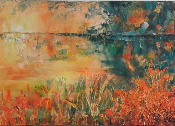 č.30  strukturální malba, akryl na plátn