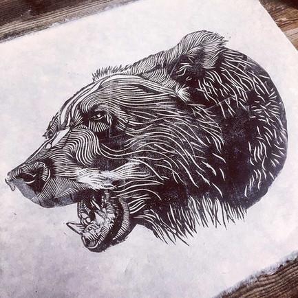 luke-dixon-bear-no-22-lino-print-limited