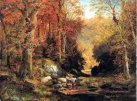 3-Cresheim-Glen-Wissahickon-Autumn-landscape-Rocky-Mountains-School-Thomas-Moran.jpg