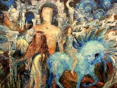 Marie Sibaiová olej na kartonu 65x50 ,,v