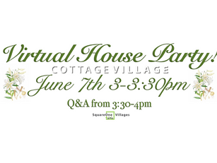 Virtual House Party: June 7th at 3pm
