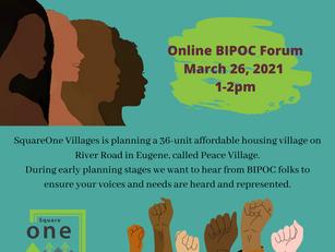 Building Justice, Building Peace: BIPOC Forum