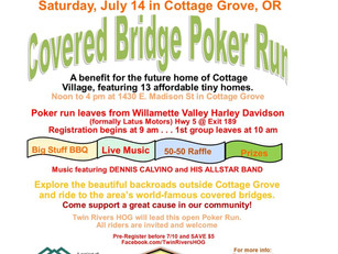 July 14: Covered Bridge Poker Run to benefit Cottage Village