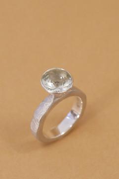 TUKOA-Ring Silber Granatapfel mit Prasio