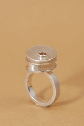 TUKOA-Ring Silber Tourniquet mit Turmali