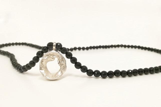 TUKOA-Coral Embrace-Collier Silber mit O