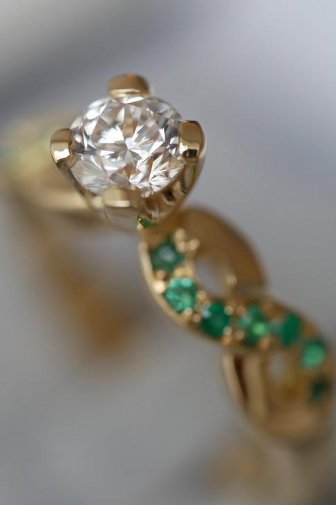 Engagement ring C&J