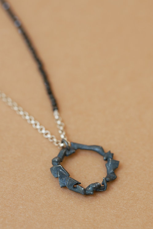 "Necklace ""Tu me fais fondre"" with spinels"