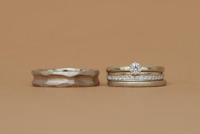 Wedding rings T&J