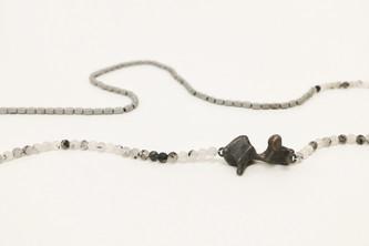 TUKOA-Coral Embrace-Collier Silber mit T
